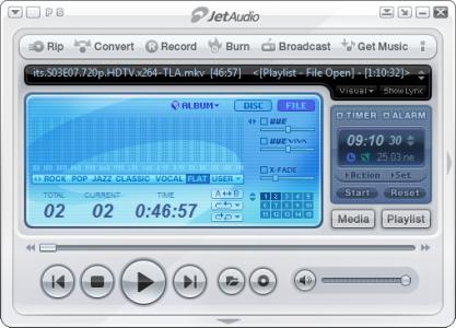 JetAudio přehrává i převádí hudbu a video
