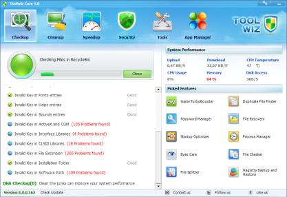 Pomocí Toolwiz Care optimalizujete systém