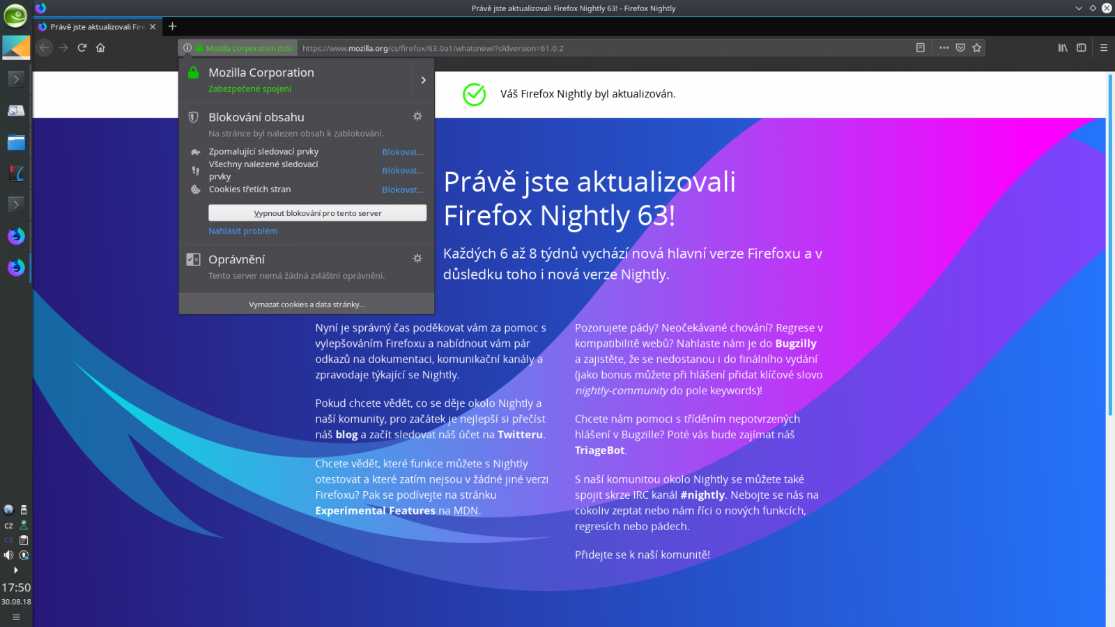 Firefox Nightly 63.0a1