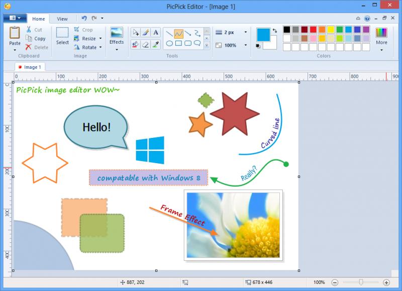 Picpick je podobný Malování Windows a dokáže sejmout obrazovku