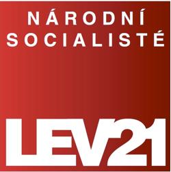 Logo LEV 21 - Národní socialisté.