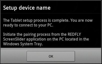 REDFLY ScreenSlider - pairing process