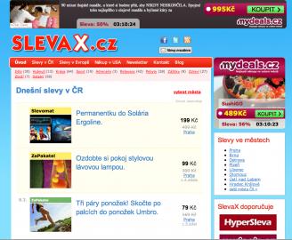 SlevaX.cz: další klasika mezi agregátory slevových serverů