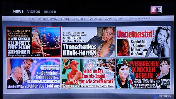 Zde si můžete například prohlédnout články z německého bulvárního denníku Bild, nebo si pustit hudební ukázku z nabídky satelitního programu iConcerts, který má ve své nabídce i Skylink.