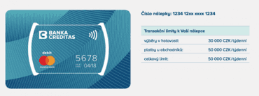 Platební nálepka MasterCard od Banky CREDITAS.