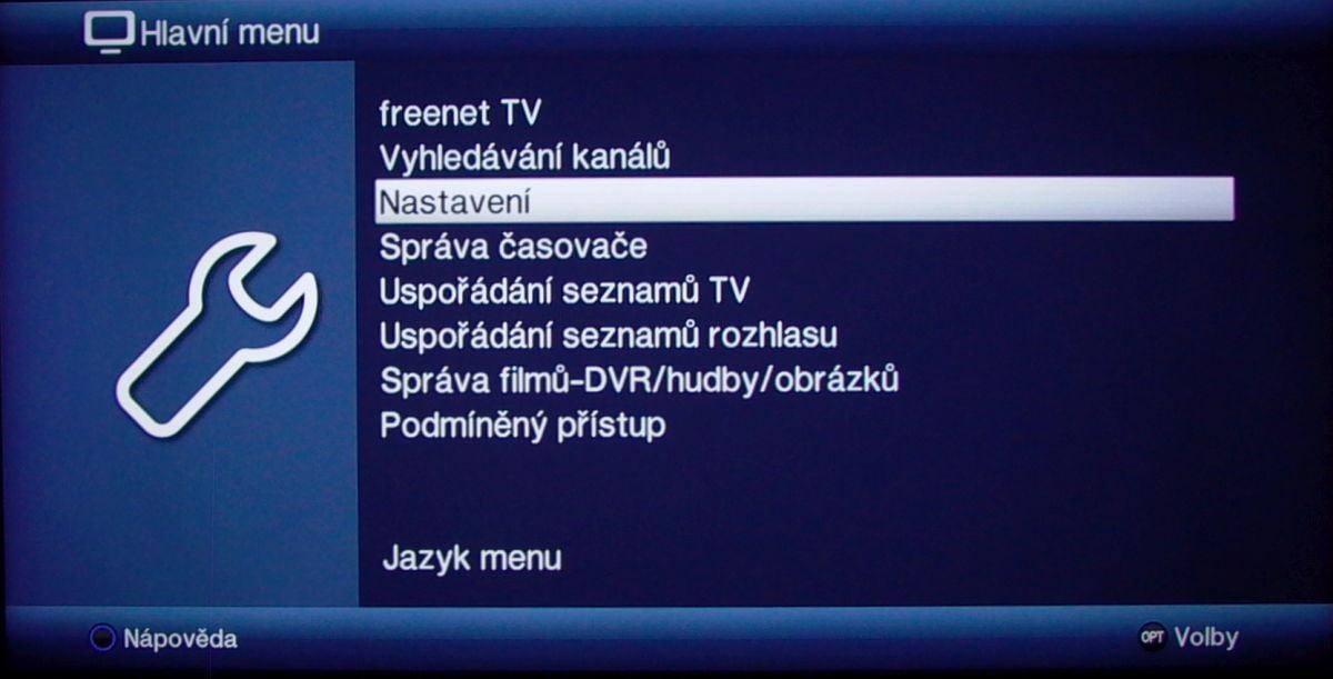 Technisat Digipal T2 DVR - menu nastavení