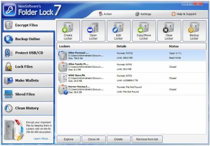Folder Lock zašifruje vaše soubory a složky