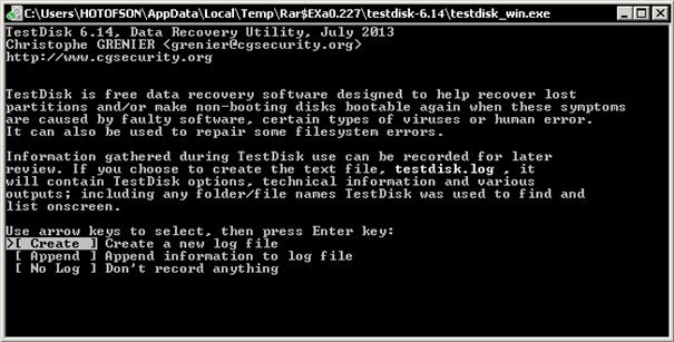 TestDisk obnoví ztracené diskové oddíly