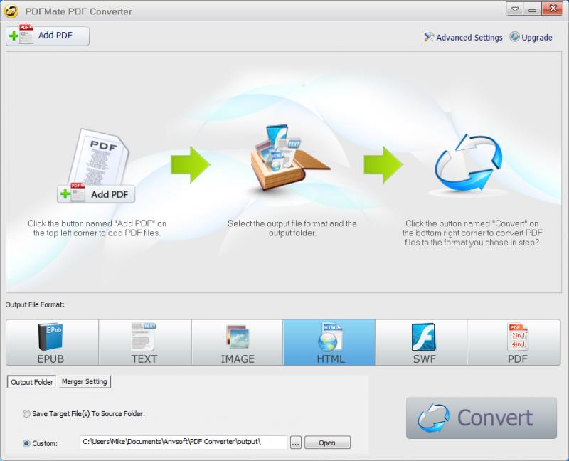 Pomocí PDFMate Free Converter zvládnete převést PDF do EPUB