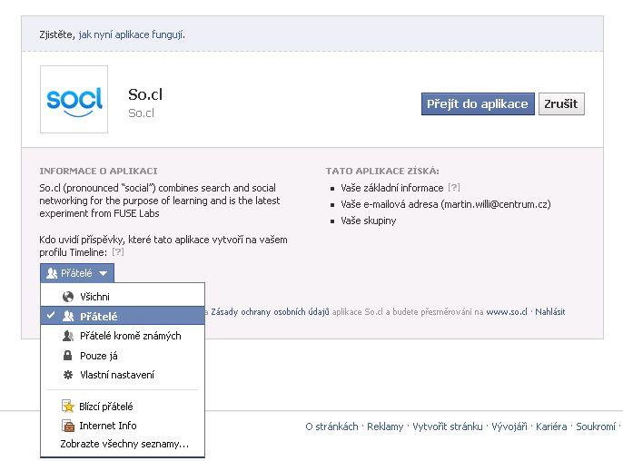 Experimentální sociální síť So.cl
