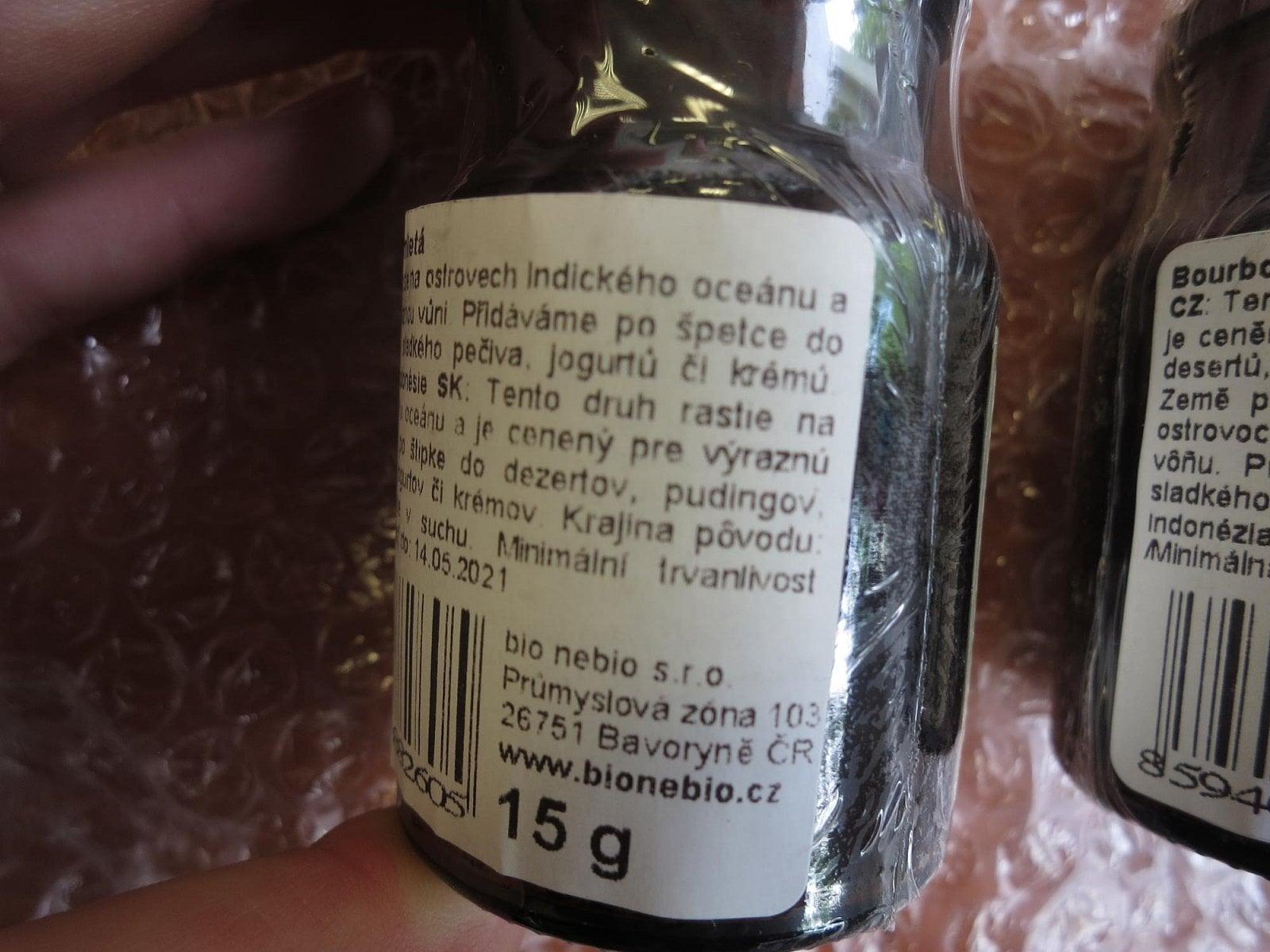 """Mletá vanilka"" se syntetickým ethylvanilinem"