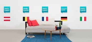 Hello Bank působí v 6 státech: v Česku, Belgii, Francii, Německu, Itálii a Rakousku.
