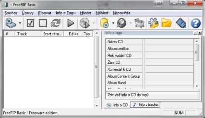 FreeRIP naripuje hudbu, ale zvládá také převod hudby