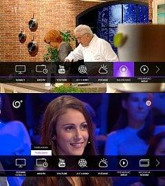 Hlavní menu TV služby Antik Telecom ve verzi 2.0