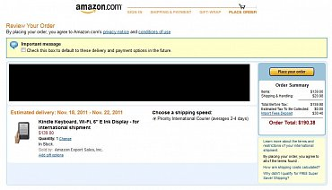 Amazon k objednávkám čtečky Kindle z Česka automaticky připočítá deposit na úhradu tuzemského DPH.