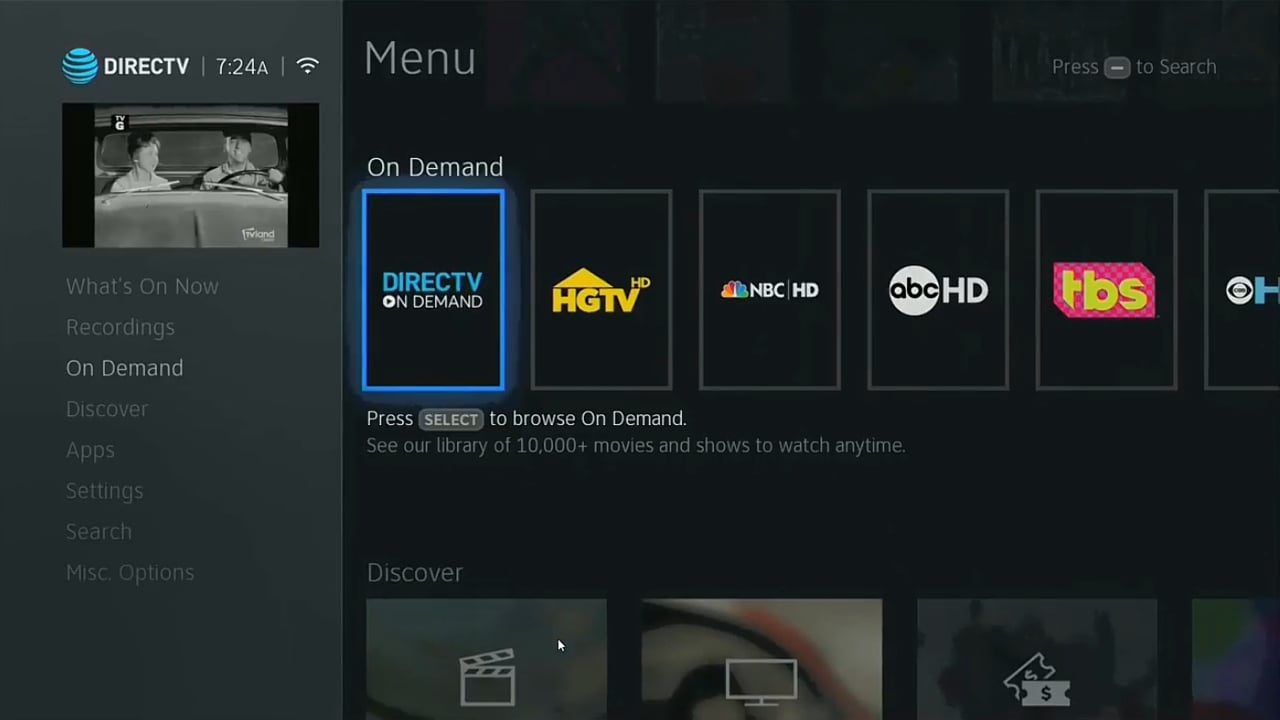 DIRECTV On Demand a Smart Search 1/2