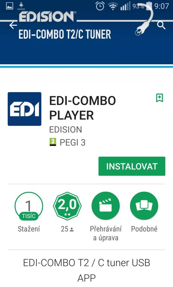 Edision EDI-Combo T2 - instalace