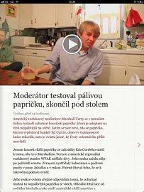 Novinky.cz ve verzi pro iPad