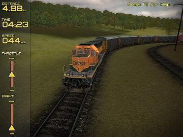 <p>Ve hře Freight Train Simulator si vyzkoušíte řízení vlaků</p>