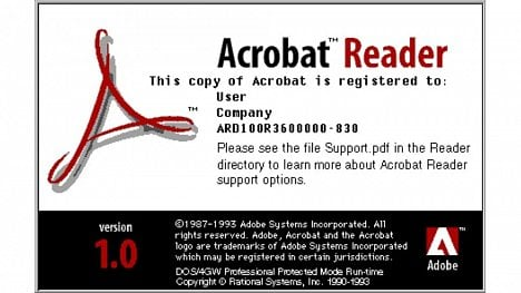 Adobe Acrobat 1.0