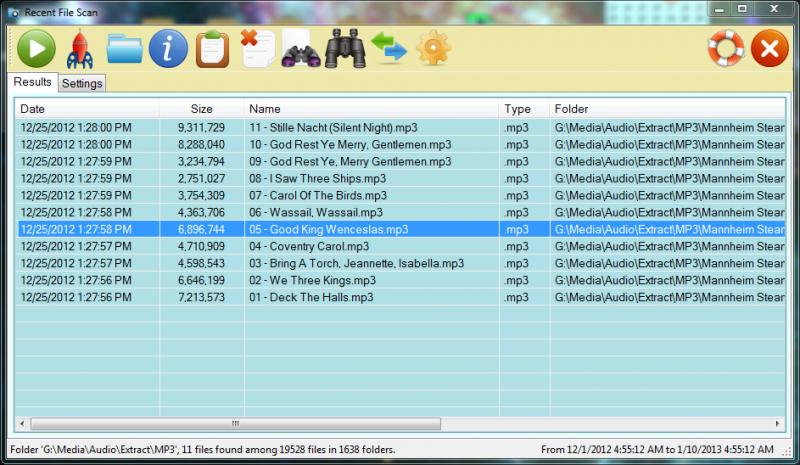 Pomocí Recent Files Scanner budete mít přehled o všech vytvářených souborech v PC