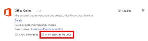 Chcete-li v Google Chrome používat funkci drag&drop, zaškrtněte políčko u volby Allow access to file URLs