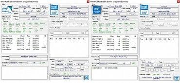 Informace systémové utility HWInfo. Vlevo X45 s Celeronem, vpravo X55 s Pentiem Silver.
