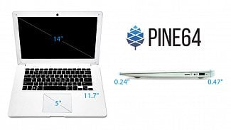 Pinebook: linuxový notebook s ARM za 89 dolarů