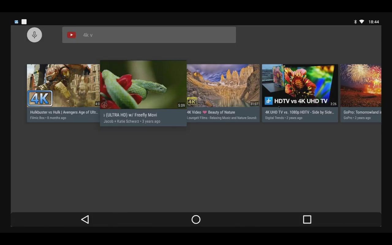 YouTube – přehrávání videa 4K a 1080p