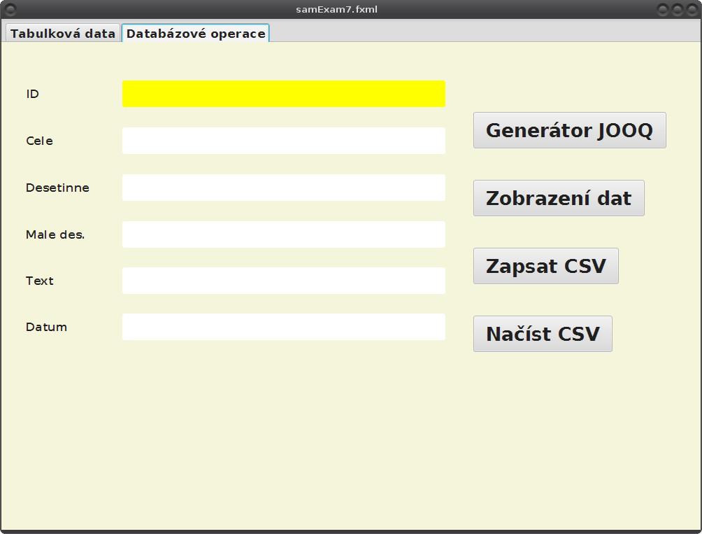 JavaFX: kombinace H2 + JOOQ