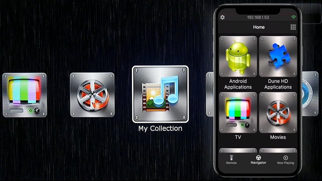 Mobilní aplikace Dune Control (firemní prezentace)