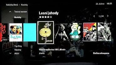 T-Mobile TV - pomocí přijímače se dostaneme i do videotéky, kde si můžete půjčovat nabízené filmy.