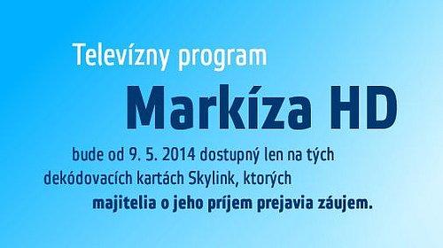 Upozornění satelitní služby Skylink, které je umístěno na jejích webových stránkách.