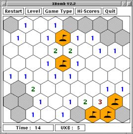 xbomb - hexagon