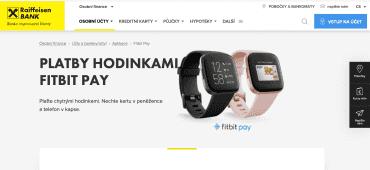 Od úterý 7. dubna 2020 Raiffeisenbank podporuje platby Fitbit Pay u karet Mastercard.