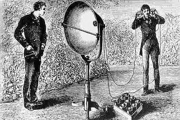 Další z obrazů znázorňujících Bellův fotofon.