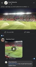 Dodatečně smazaný facebookový status Pavla Matochy ze čtvrtečního fotbalového utkání