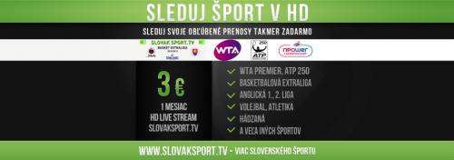 Slovak Sport.TV bude dostupná prostřednictvím internetu v HD kvalitě za tři eura měsíčně.
