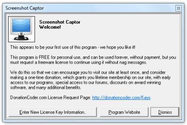 Žádost o registraci a kód pro spuštění programu