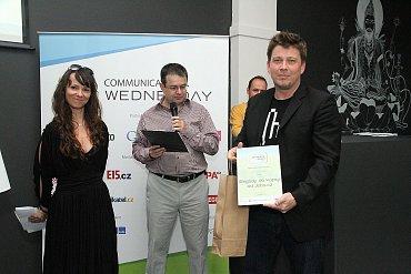 Dave Ruzius(LMC) a cena pro vítěze v kategorii Práce, obchod a podnikání