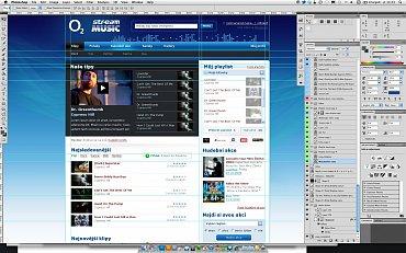 PSD titulní stránky Music Streamu