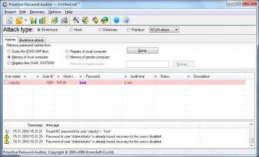 Odhalení krátkého hesla k účtu ve Windows zabralo v předběžném útoku pouhé dvě vteřiny...