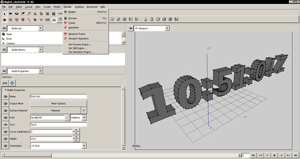 K-3D je pokročilý nástroj pro tvorbu 3D animací