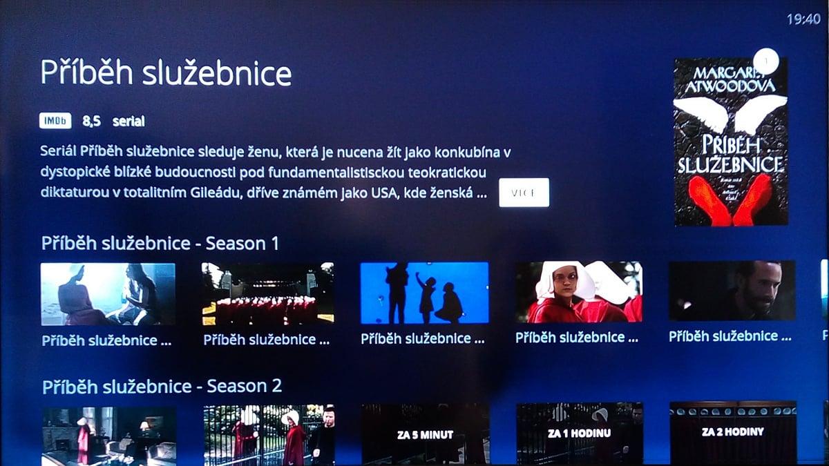 Zobrazení více sezon u seriálu