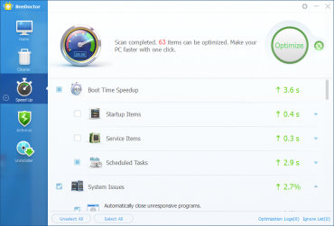 <p>BeeDoctor nabízí kromě vyčištění souborů i zrychlení systému a antivirovou ochranu</p>