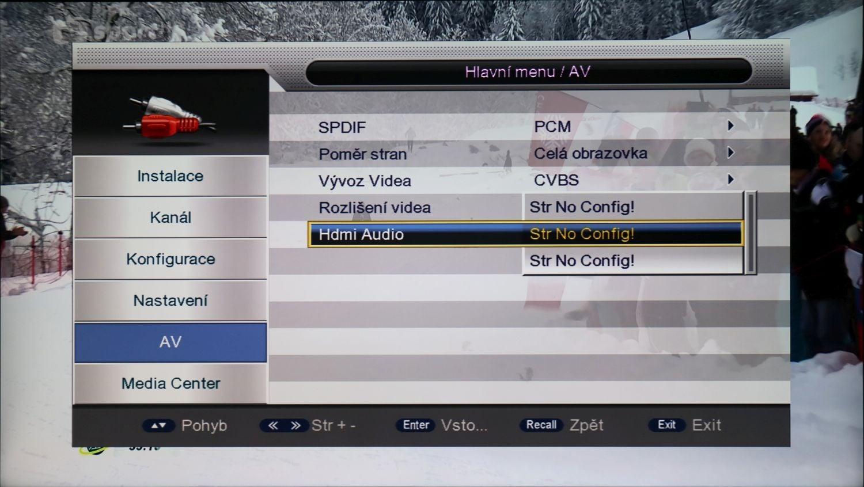 Di-Way T2-One HEVC - menu