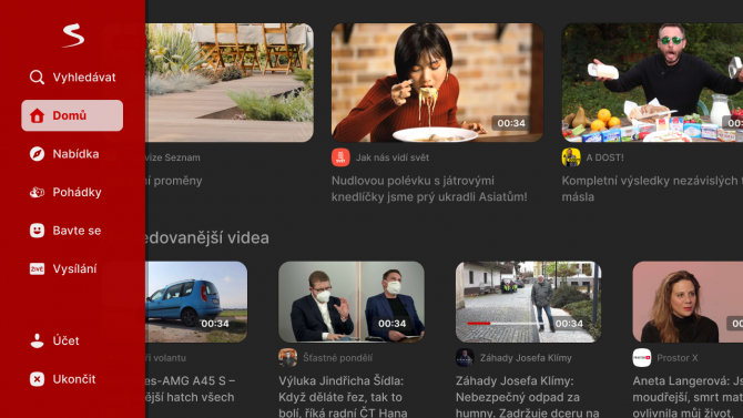 Seznam předělal aplikaci pro HbbTV a chytré televizory