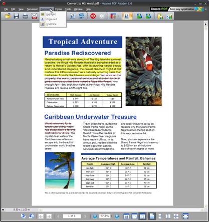 Nuance PDF čte PDF i XPS dokumenty