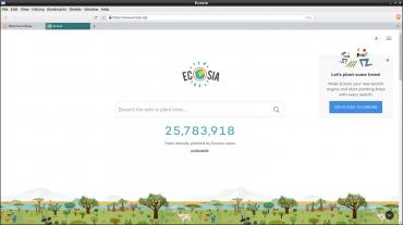 Vyhledávač Ecosia v prohlížeči Brave