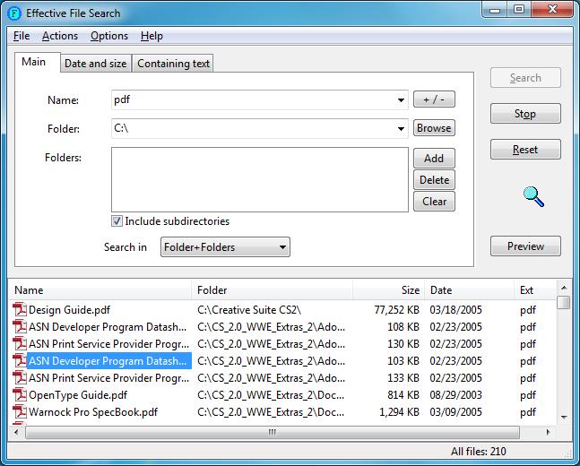 Effective File Search vyhledává jako profesionál